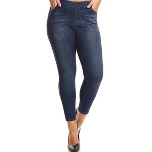 Curvy Collection  Denim Jegging Pants